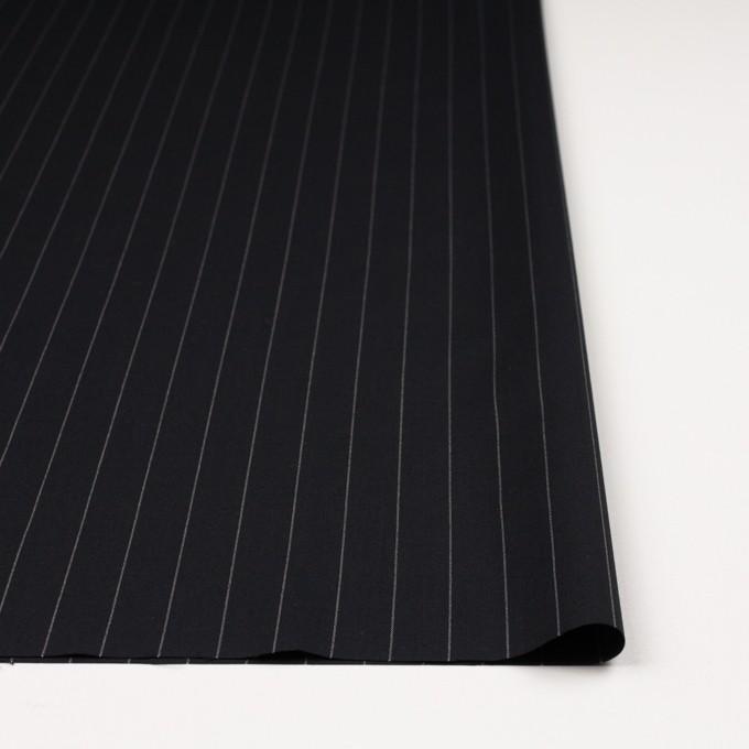 ウール×ストライプ(ブラック)×ポプリン イメージ3