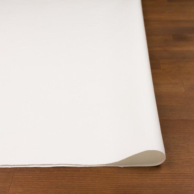 コットン×無地(ミルキーホワイト)×二重織_イタリア製 イメージ3