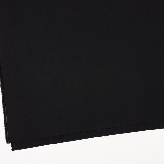 コットン×無地(ブラック)×二重織_イタリア製 イメージ2