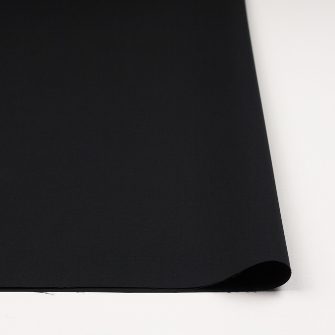 コットン×無地(ブラック)×二重織_イタリア製 イメージ3