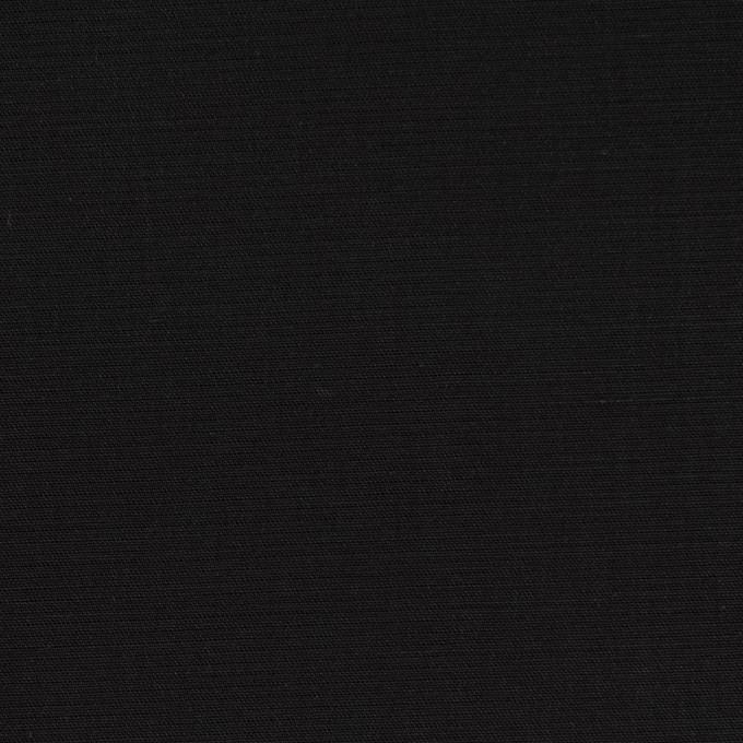 コットン×無地(ブラック)×二重織_イタリア製 イメージ1
