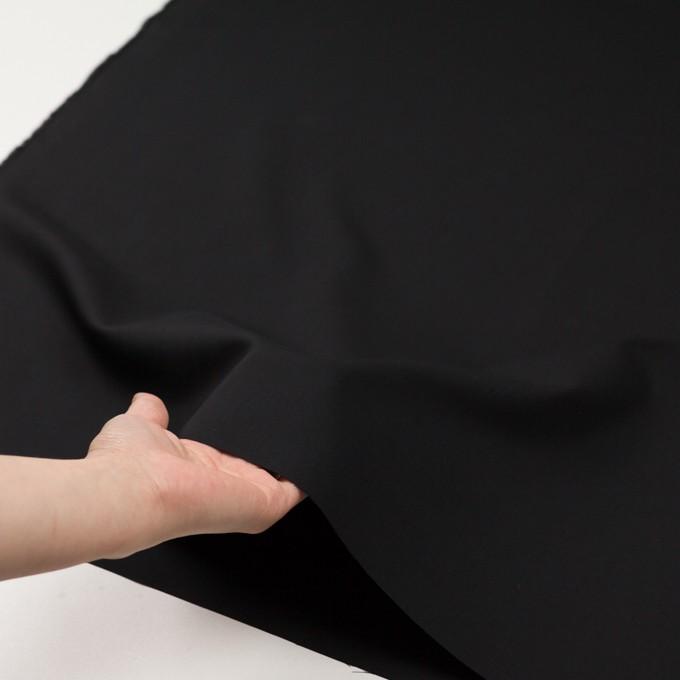 コットン×無地(ブラック)×二重織_イタリア製 イメージ5