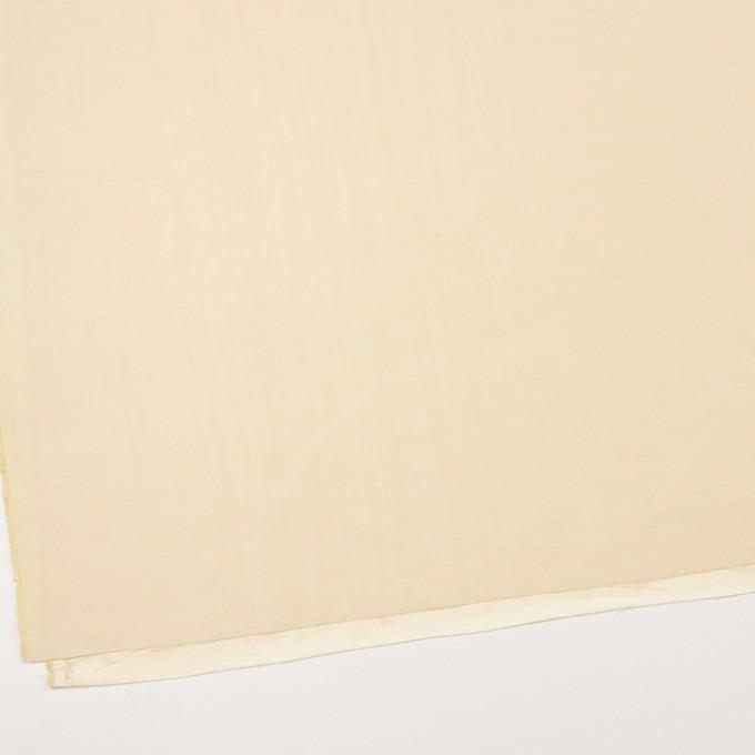 レーヨン&シルク×無地(クリームイエロー)×バックサテンシャンタン_イタリア製 イメージ2