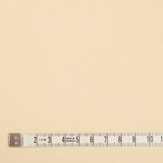 レーヨン&シルク×無地(クリームイエロー)×バックサテンシャンタン_イタリア製 イメージ4