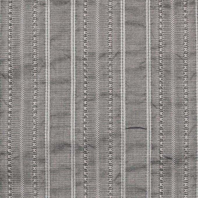 コットン&ポリエステル×ストライプ(シルバーグレー)×ジャガード イメージ1