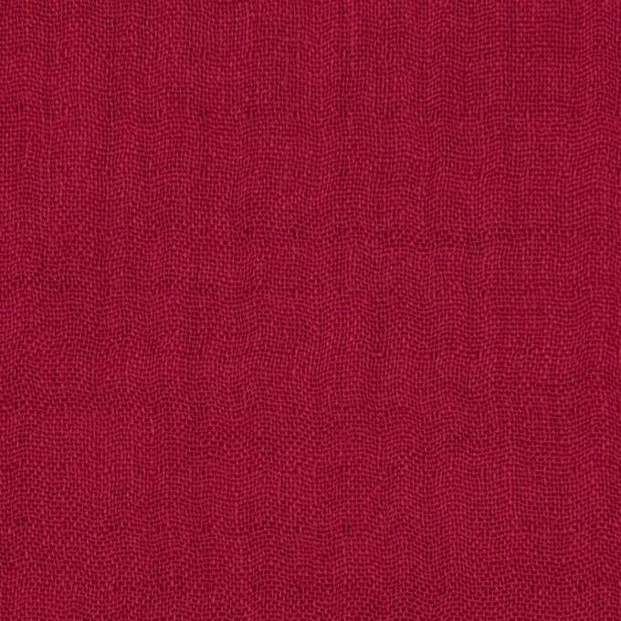 コットン×無地(エンジ)×トリプルガーゼ_全3色 イメージ1