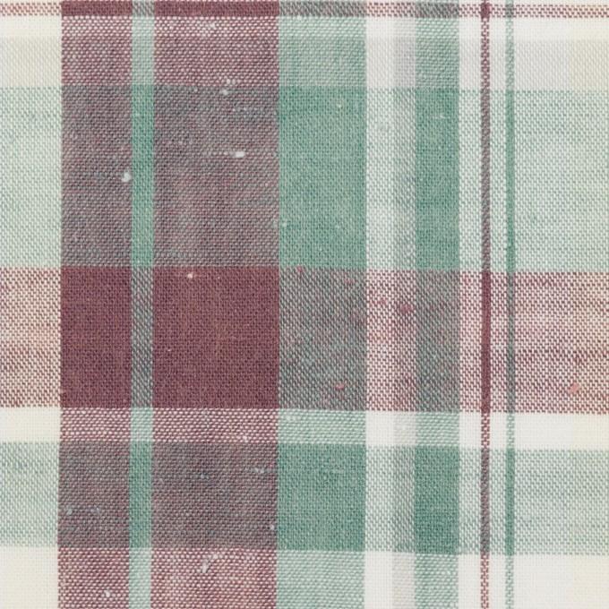 コットン×チェック(グレイッシュパープル&ミント)×シーチング イメージ1