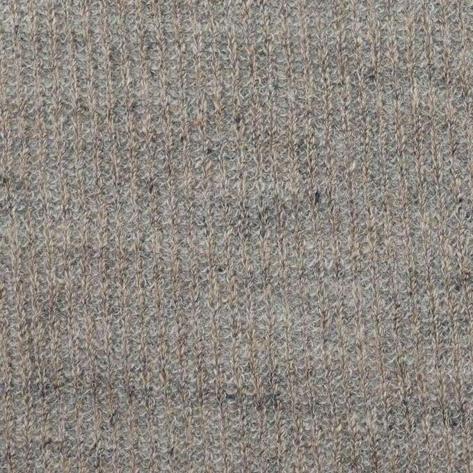 コットン&リネン×無地(グレー)×リブ&天竺ニット_全3色 イメージ1