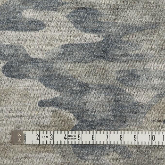 リネン×迷彩(グレイッシュベージュ&インクブルー)×天竺ニット イメージ4