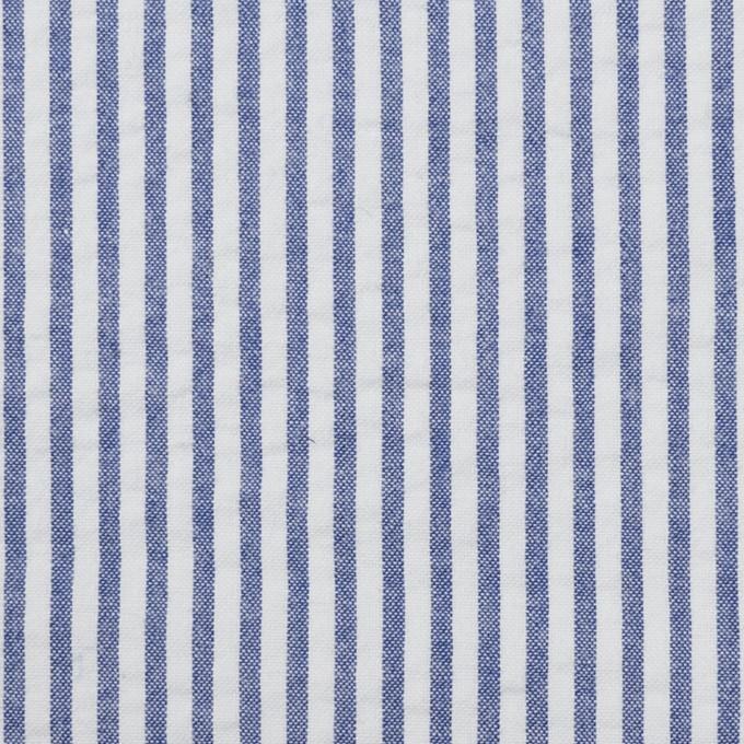 コットン×ストライプ(ブルー)×サッカー_全2色 イメージ1