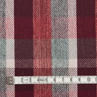 コットン×チェック(エンジ&スレートグリーン)×サージ_全2色 サムネイル4