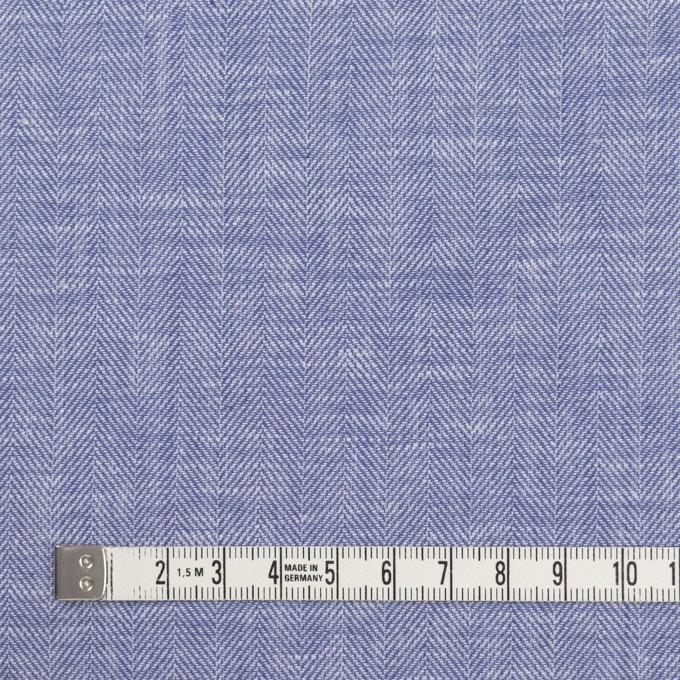 コットン×無地(サルビアブルー)×ヘリンボーン イメージ4