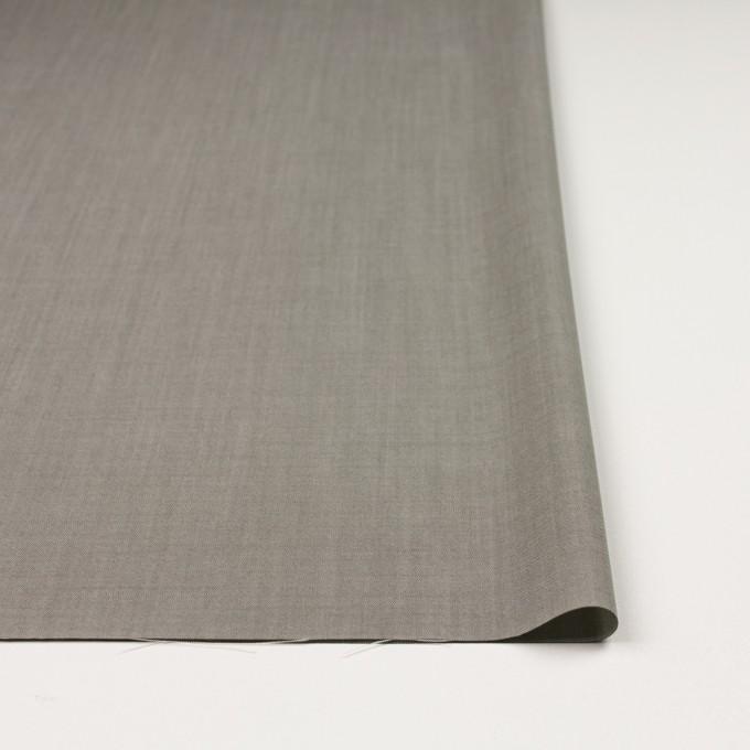 ウール×無地(グレー)×ポプリン_イタリア製 イメージ3
