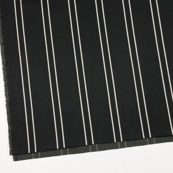 コットン&ポリウレタン×ストライプ(ブラック&アイボリー)×サテンジャガード_全2色 サムネイル2