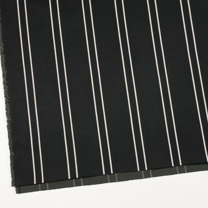 コットン&ポリウレタン×ストライプ(ブラック&アイボリー)×サテンジャガード_全2色 イメージ2