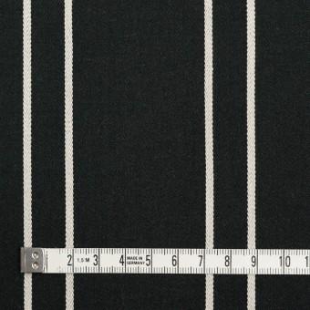 コットン&ポリウレタン×ストライプ(ブラック&アイボリー)×サテンジャガード_全2色 サムネイル4