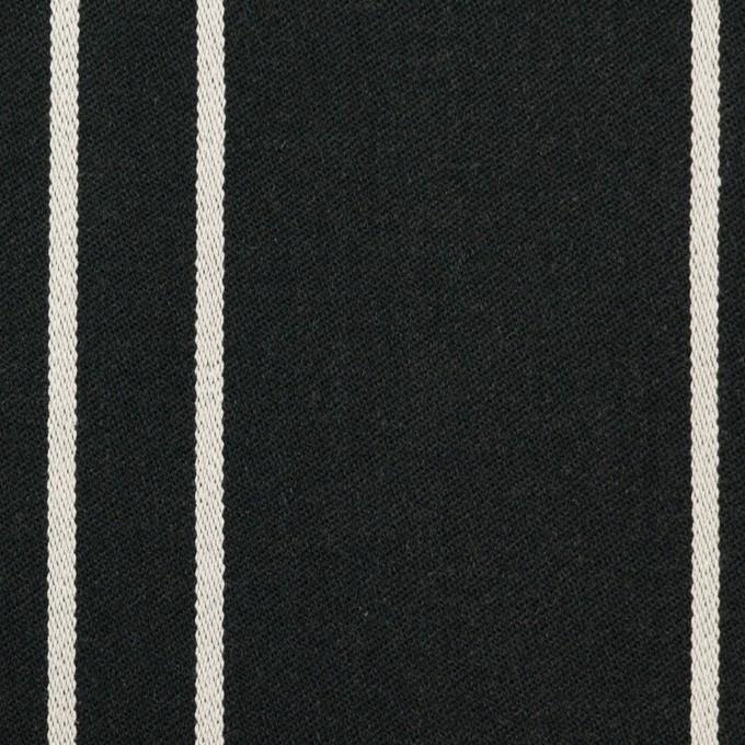 コットン&ポリウレタン×ストライプ(ブラック&アイボリー)×サテンジャガード_全2色 イメージ1