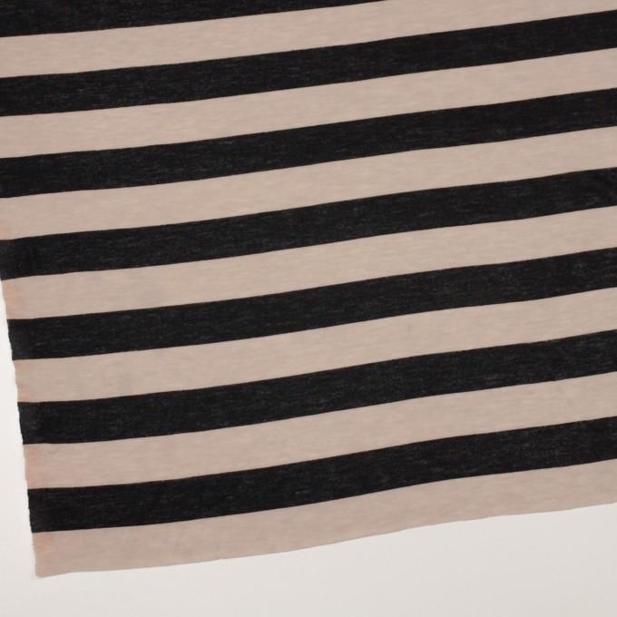 コットン&モダール×ボーダー(ベージュ&ブラック)×天竺ニット イメージ2