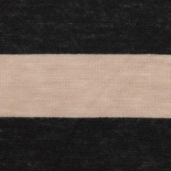 コットン&モダール×ボーダー(ベージュ&ブラック)×天竺ニット サムネイル1