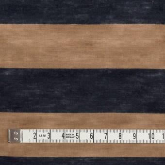 コットン&モダール×ボーダー(モカ&ダークネイビー)×天竺ニット サムネイル4
