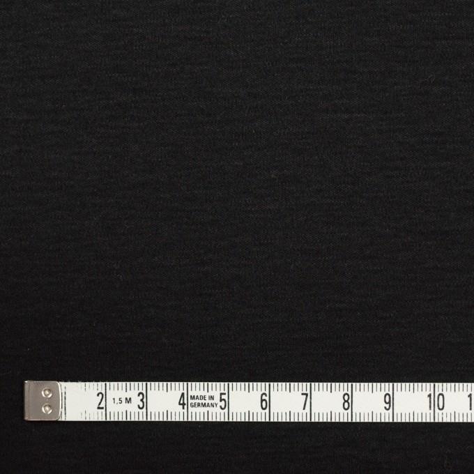 コットン&モダール×無地(ブラック)×スムースニット イメージ4