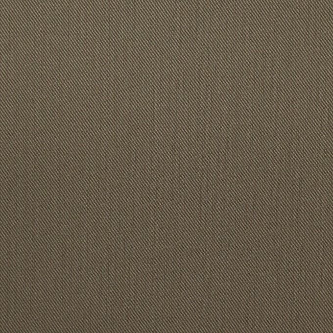コットン&ポリウレタン×無地(カーキグリーン)×ギャバジンストレッチ_イタリア製 イメージ1