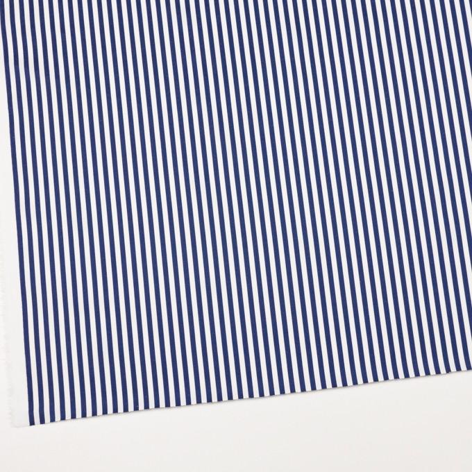 コットン×ストライプ(ネイビー)×ブロード&サージ イメージ2