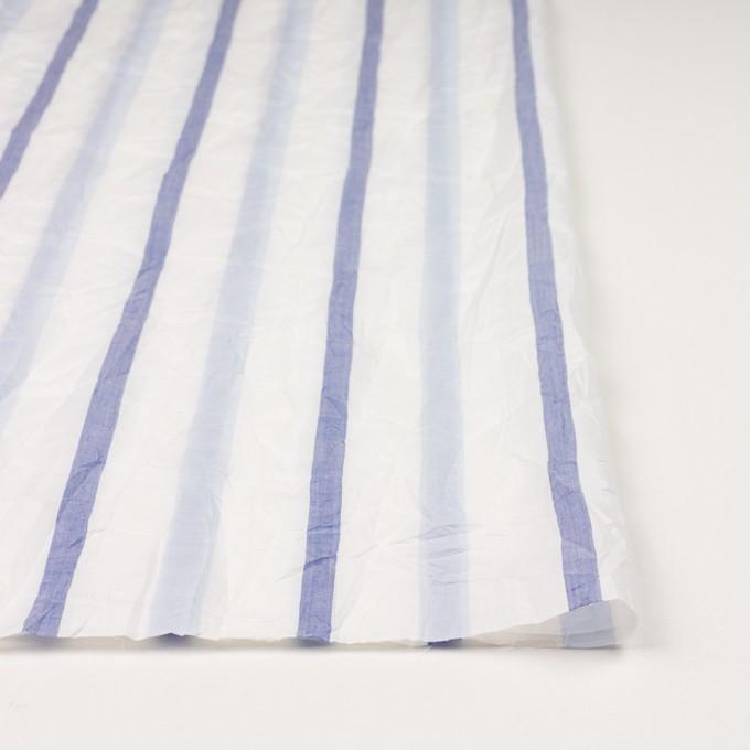 コットン×ストライプ(ペールブルー&ネイビー)×ボイルワッシャー イメージ3