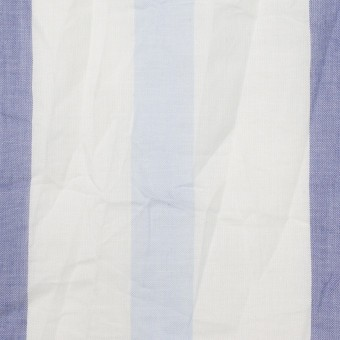 コットン×ストライプ(ペールブルー&ネイビー)×ボイルワッシャー サムネイル1