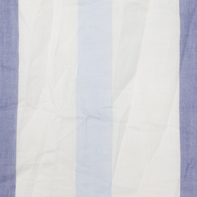 コットン×ストライプ(ペールブルー&ネイビー)×ボイルワッシャー イメージ1
