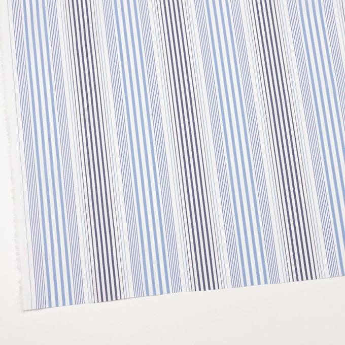 コットン×ストライプ(サックス&ネイビー)×ブロード イメージ2
