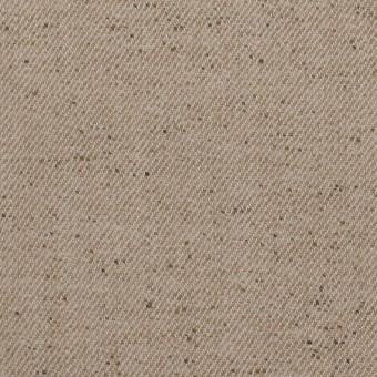 コットン&ポリエステル×無地(ベージュ)×厚サージ サムネイル1