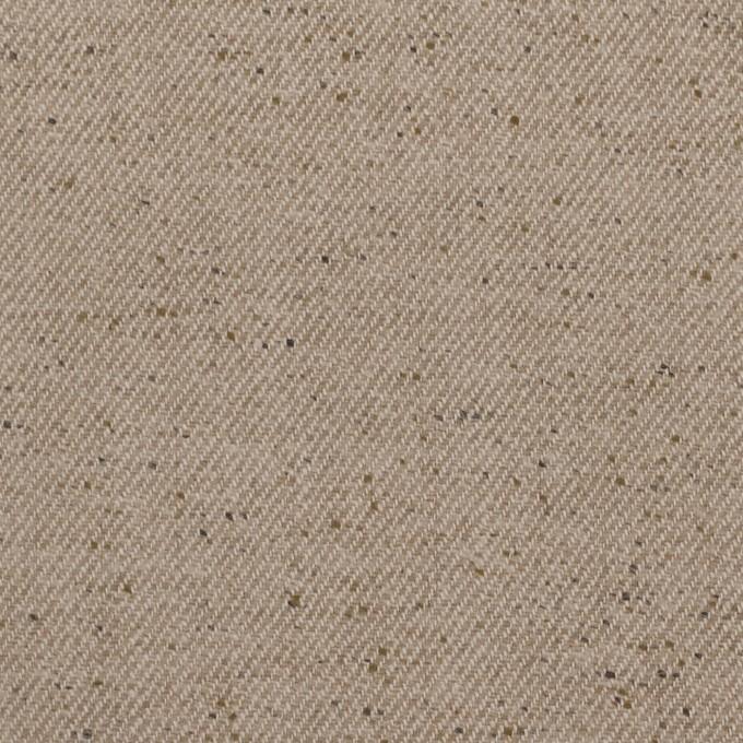 コットン&ポリエステル×無地(ベージュ)×厚サージ イメージ1