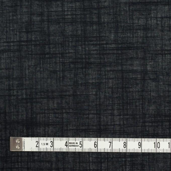 コットン×無地(ブラック)×ボイル イメージ4