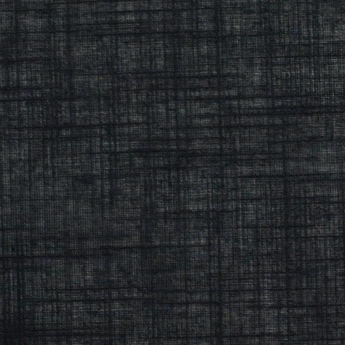 コットン×無地(ブラック)×ボイル イメージ1