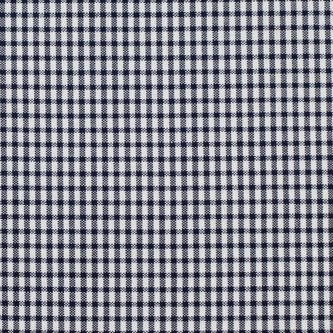 コットン×チェック(ダークネイビー)×ポプリン イメージ1