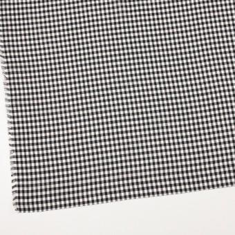 コットン×チェック(ブラック)×ローン サムネイル2
