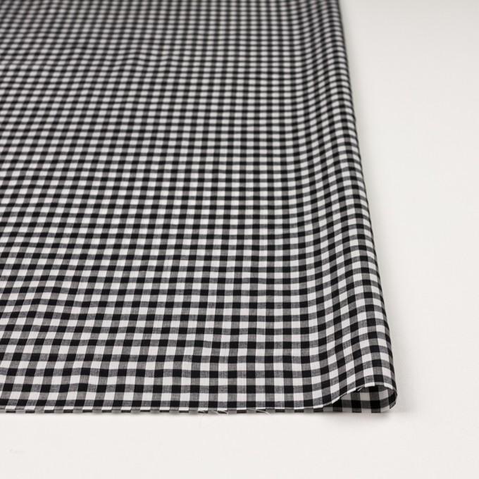 コットン×チェック(ブラック)×ローン イメージ3