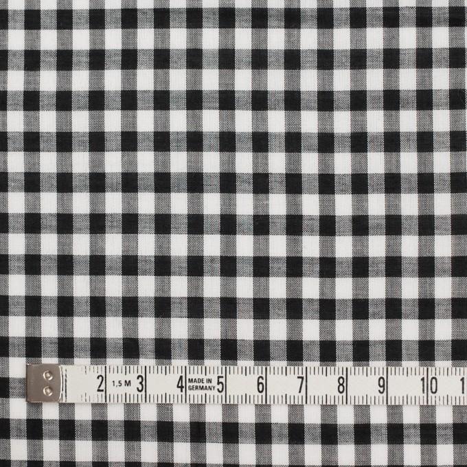 コットン×チェック(ブラック)×ローン イメージ4