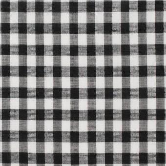 コットン×チェック(ブラック)×ローン サムネイル1