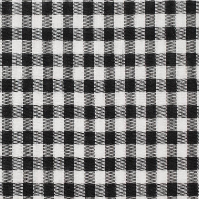 コットン×チェック(ブラック)×ローン イメージ1