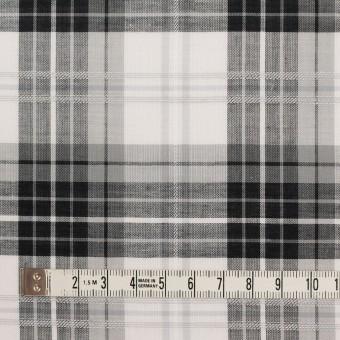 コットン&ナイロン×チェック(グレー&ブラック)×ボイルジャガード サムネイル3