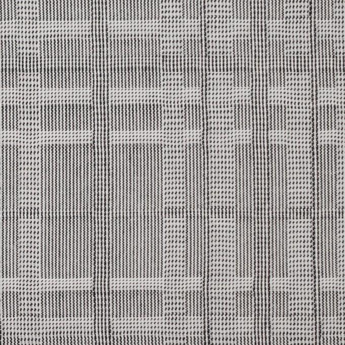 コットン×幾何学模様(チャコールグレー)×ジャガード イメージ1