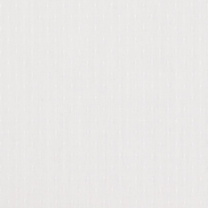 コットン×ドット(ホワイト)×ブロードジャガード イメージ1