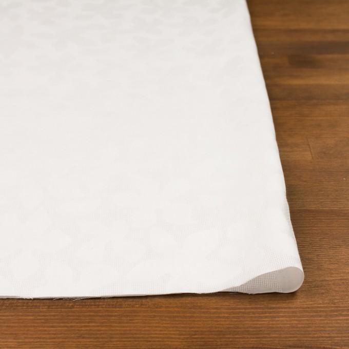 コットン×幾何学模様(オフホワイト)×蜂巣織&サテンジャガード イメージ3