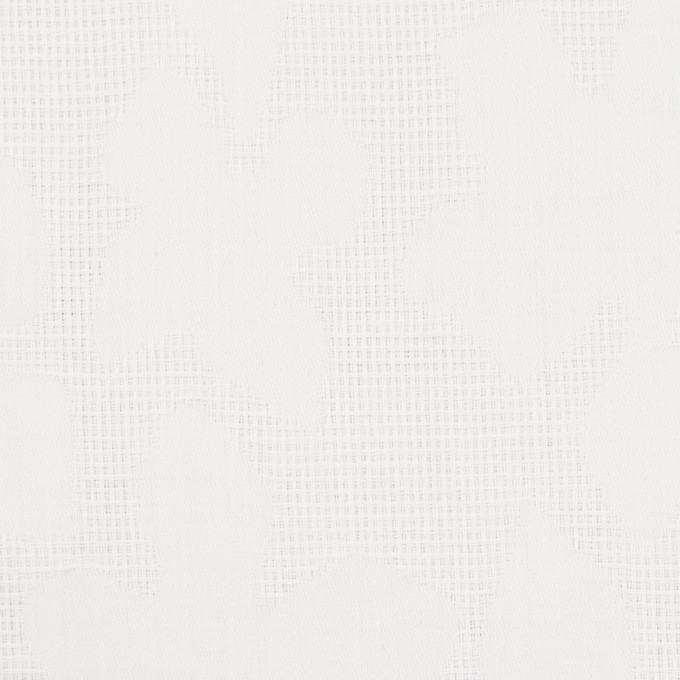コットン×幾何学模様(オフホワイト)×蜂巣織&サテンジャガード イメージ1