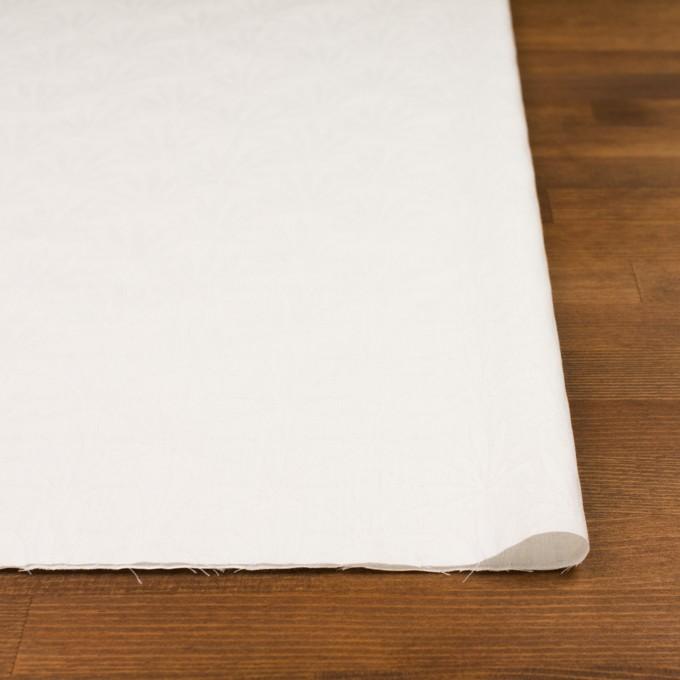 コットン×幾何学模様(ダルホワイト)×ブロードジャガード イメージ3