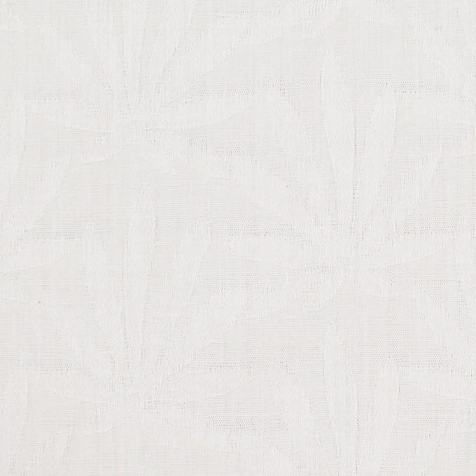 コットン×幾何学模様(ダルホワイト)×ブロードジャガード イメージ1