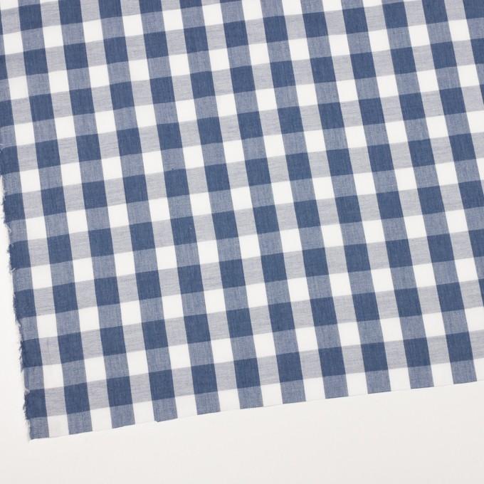 コットン&ポリエステル×チェック(アッシュブルー)×ジョーゼット イメージ2
