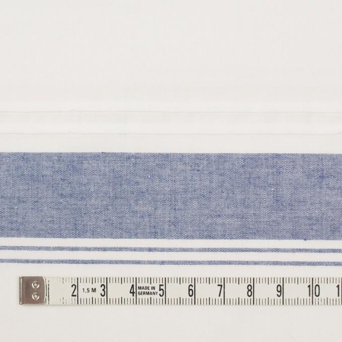 コットン×ボーダー(アッシュブルー)×シーチング イメージ4